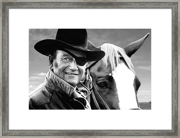 John Wayne @ True Grit #1 Framed Print