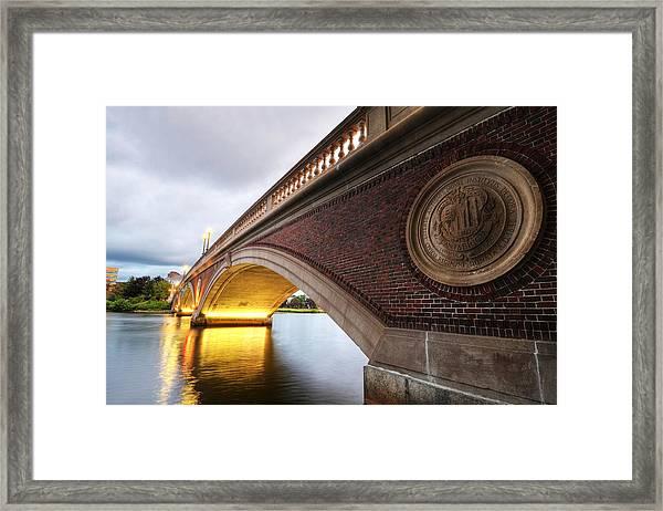 John Weeks Bridge Charles River Harvard Square Cambridge Ma Framed Print