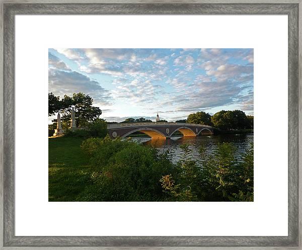 John Weeks Bridge In Harvard Square Cambridge Framed Print