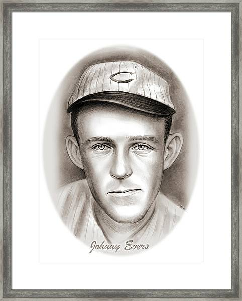Johnny Evers Framed Print