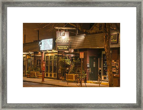 Johnny Ds Music Club In Davis Square Somerville Ma Framed Print