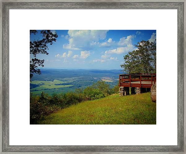 John's Mountain Overlook Framed Print