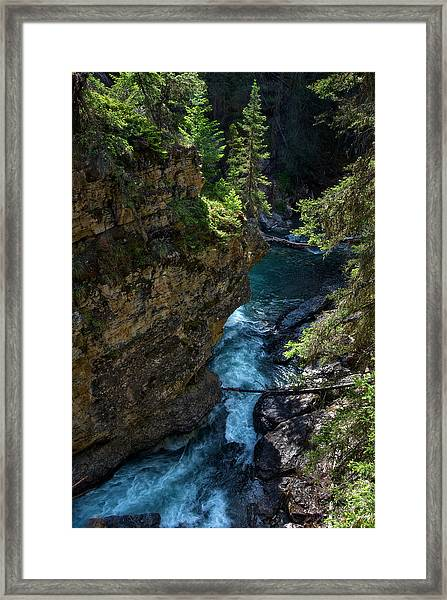 Johnson Canyon In Banff National Park, Canada Framed Print