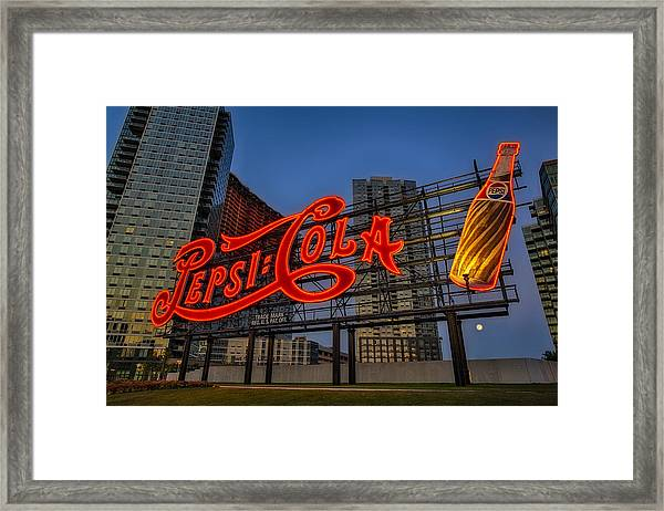 Framed Print featuring the photograph Join The Pepsi Generation by Susan Candelario