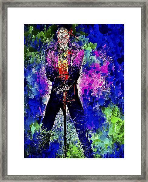 Joker Night Framed Print
