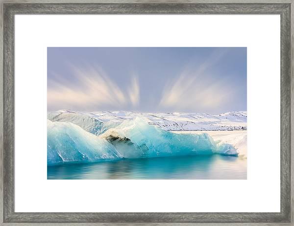 Jokulsarlon Glacier Lagoon Framed Print