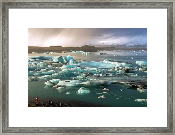 Jokulsarlon The Magnificent Glacier Lagoon, Iceland Framed Print