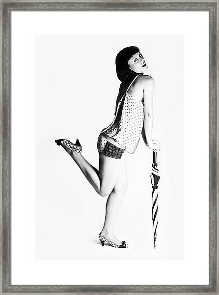 Jolley Pinup Framed Print
