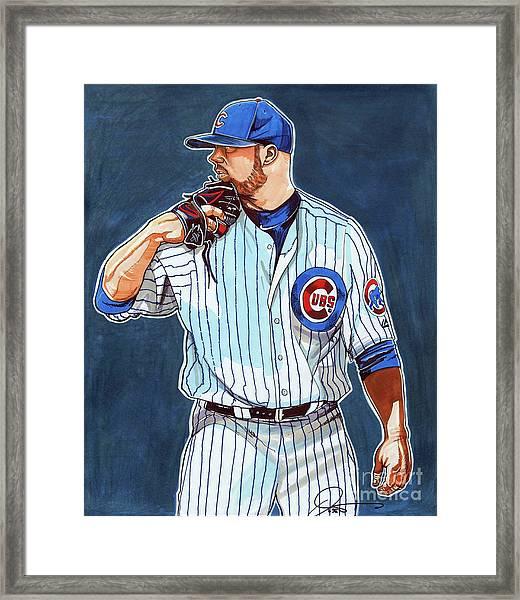 Jon Lester Chicago Cubs Framed Print