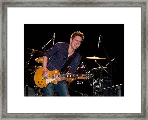 Jonny Lang Rocks His 1958 Les Paul Gibson Guitar Framed Print
