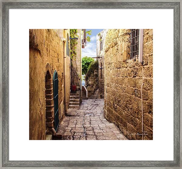 Joppa Israel Passageway Framed Print