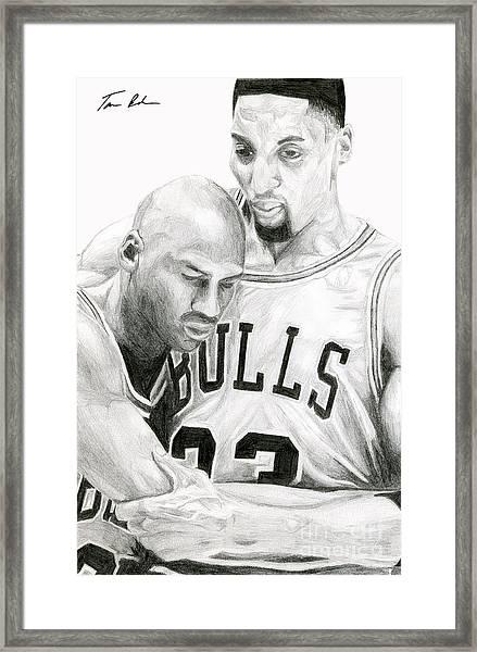 Jordan Will To Win Framed Print
