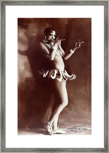 Josephine Baker Lucien Walery   Banana Skirt From The Folies Bergere Production Un Vent De Folie Framed Print