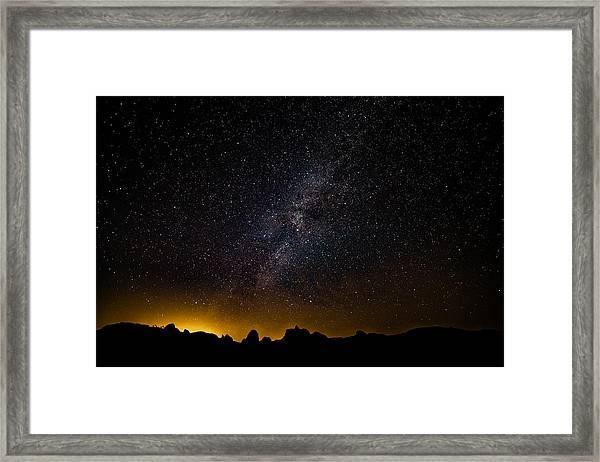 Joshua Tree's Fiery Sky Framed Print