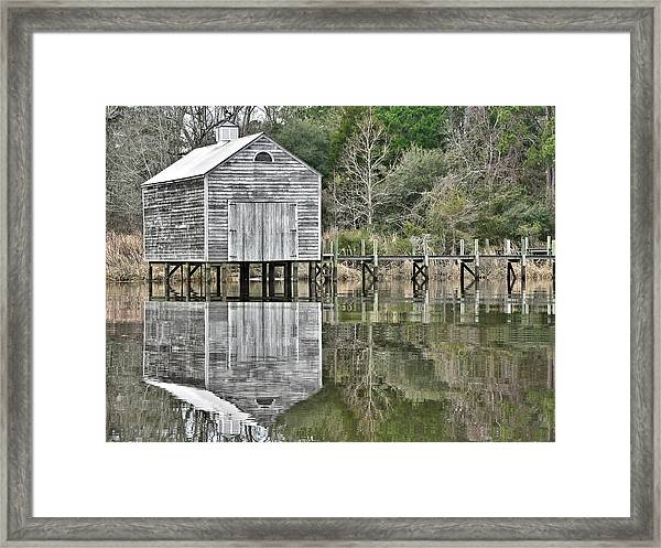 Jourdan River Boathouse Framed Print