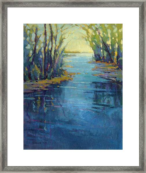 Framed Print featuring the painting Journey Home by Konnie Kim