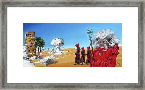 Journey To The White Desert Framed Print