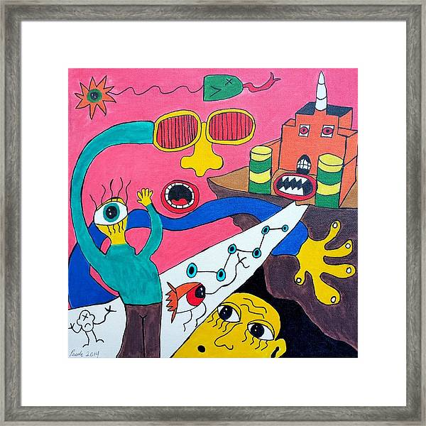 Journey Upon The Path Of Despair Framed Print