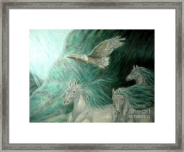 Journeyscape-out Of Darkness Framed Print