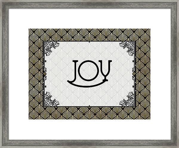 Joy - Art Deco Framed Print
