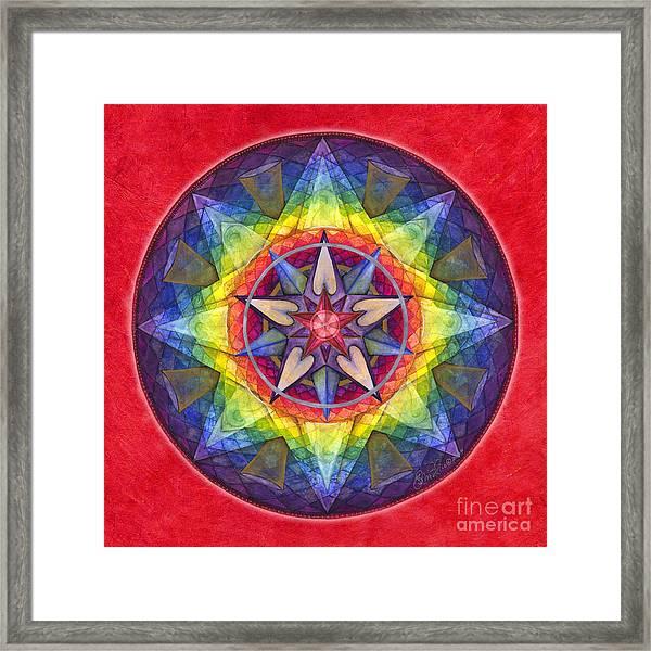 Joy Mandala Framed Print