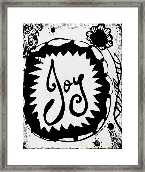 Framed Print featuring the drawing Joy by Rachel Maynard