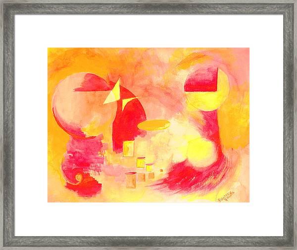 Joyful Abstract Framed Print