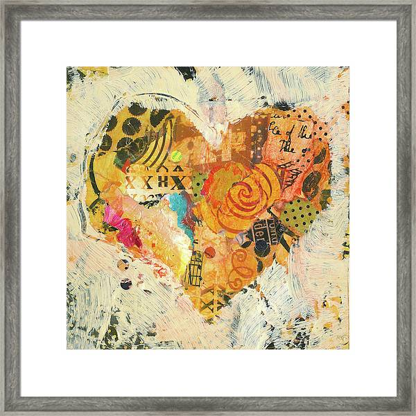 Framed Print featuring the painting Joyful Heart 12 by Shelli Walters