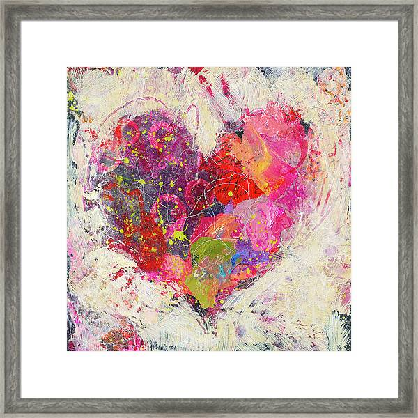 Framed Print featuring the painting Joyful Heart 3 by Shelli Walters