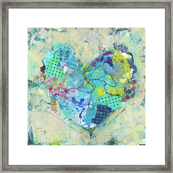 Framed Print featuring the painting Joyful Heart 4 by Shelli Walters