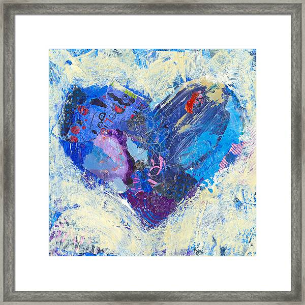 Framed Print featuring the painting Joyful Heart 8 by Shelli Walters