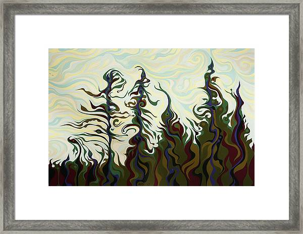 Joyful Pines, Whispering Lines Framed Print