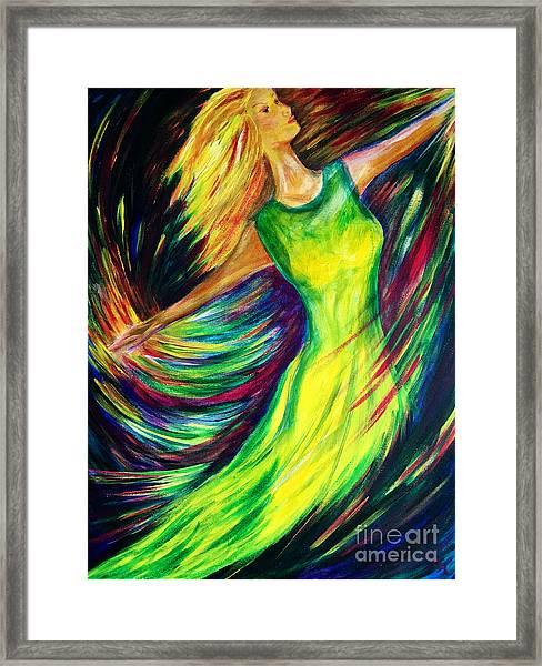 Joy's Dance Framed Print