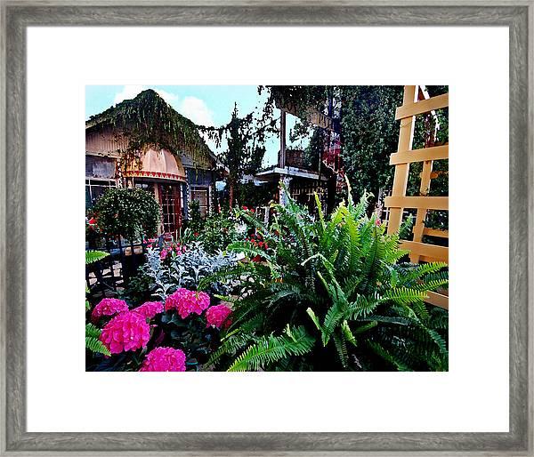 Joys Patio Framed Print