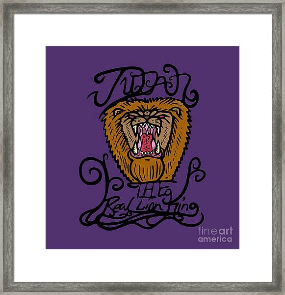 Judah The Real Lion King Framed Print