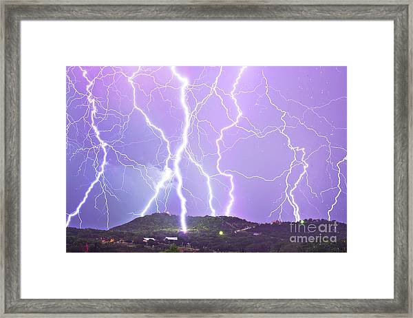 Judgement Day Lightning Framed Print