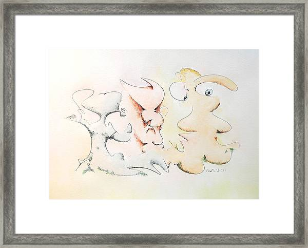 Judging Picasso Framed Print