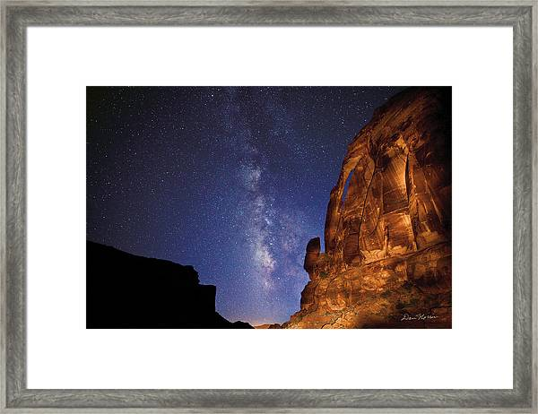 Jug Handle Arch And The Milky Way Framed Print