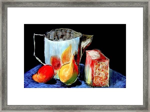 Jug With Fruit Framed Print