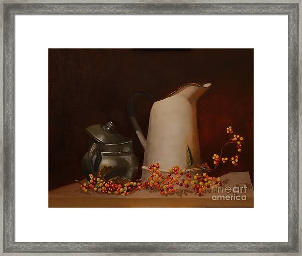 Framed Print featuring the painting Jugs by Genevieve Brown