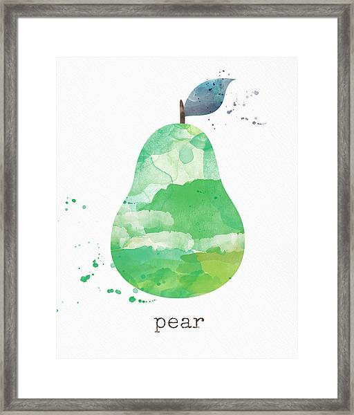 Juicy Pear Framed Print