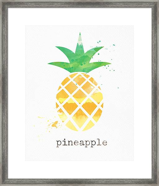 Juicy Pineapple Framed Print