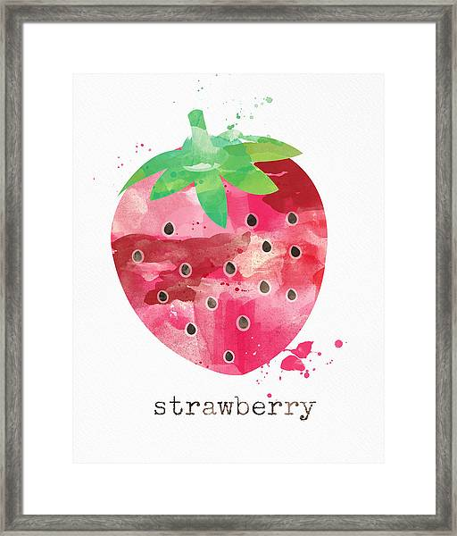Juicy Strawberry Framed Print