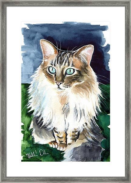 Juju - Cashmere Bengal Cat Painting Framed Print