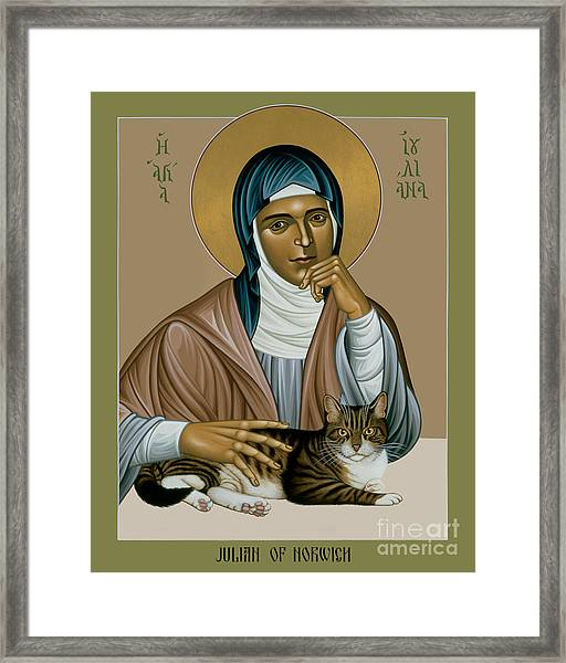 Julian Of Norwich - Rljon Framed Print