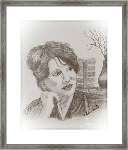 Juliette Binoche Framed Print