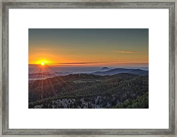 July Sunrise Framed Print