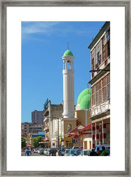 Jumma Mosque Long Framed Print