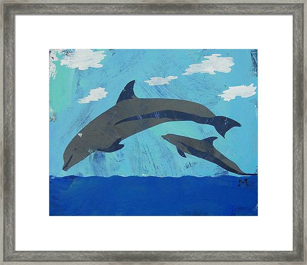 Framed Print featuring the painting Jump For Joy by Candace Shrope
