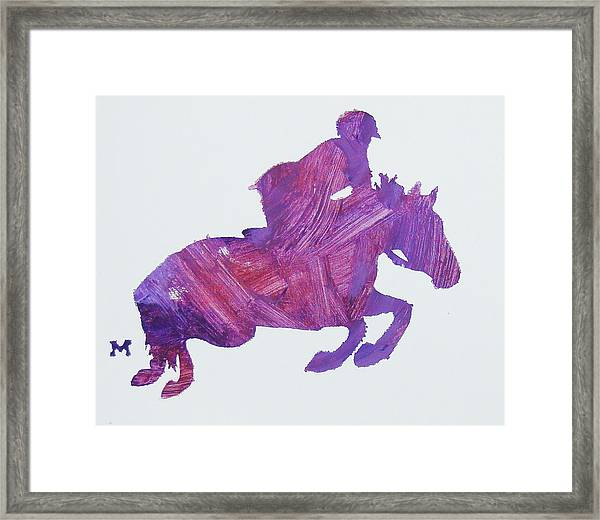 Framed Print featuring the painting Jumper by Candace Shrope